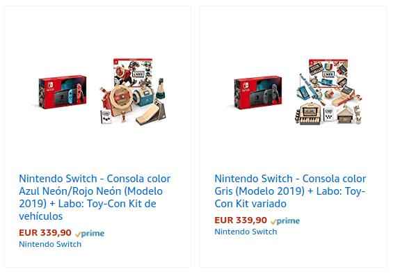 Oferta packs Switch + Labo